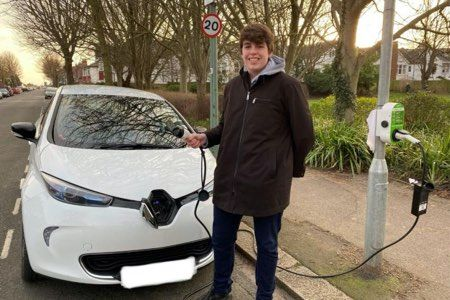 Hove teenager on mission to get young people driving electric vehicles