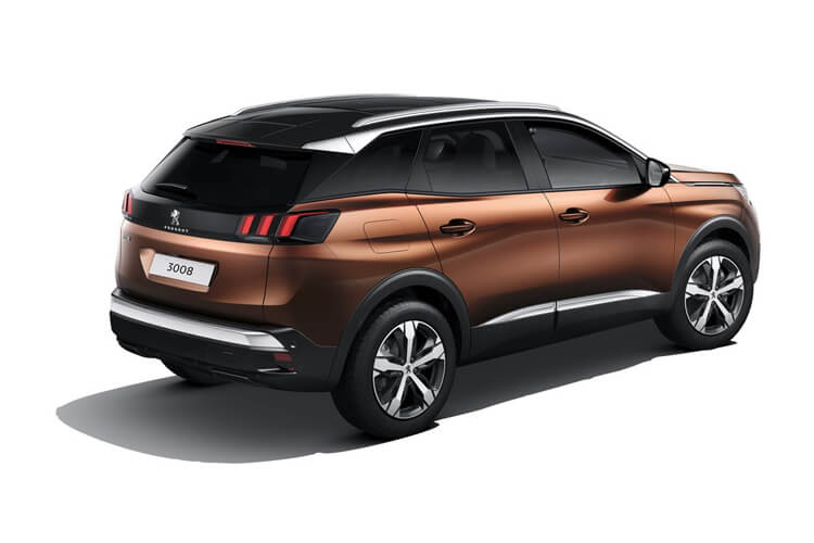 Peugeot 3008 SUV 1.2 PureTech 130PS Allure Premium 5Dr EAT8 [Start Stop] back view