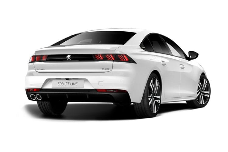 Peugeot 508 Fastback HYBRID 1.6 PHEV 11.8kWh 225PS Allure 5Dr e-EAT [Start Stop] back view