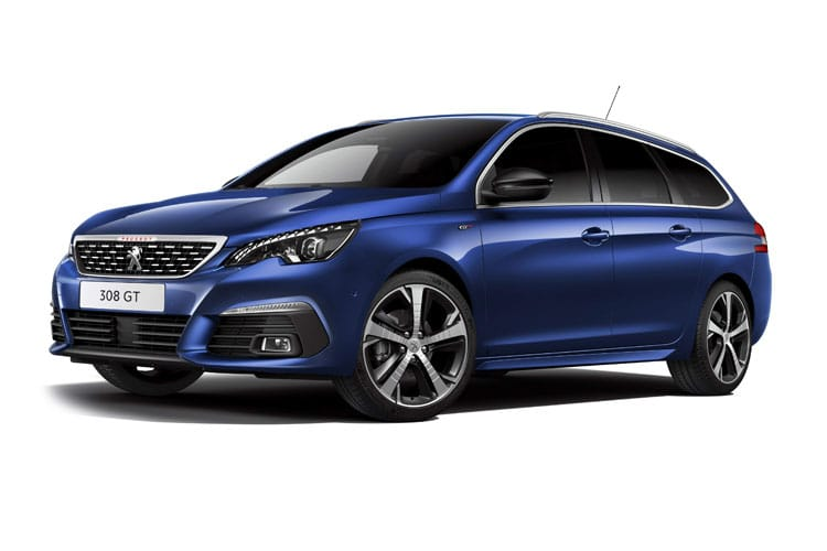 Peugeot 308 SW 5Dr 1.2 PureTech 130PS GT 5Dr EAT8 [Start Stop] front view
