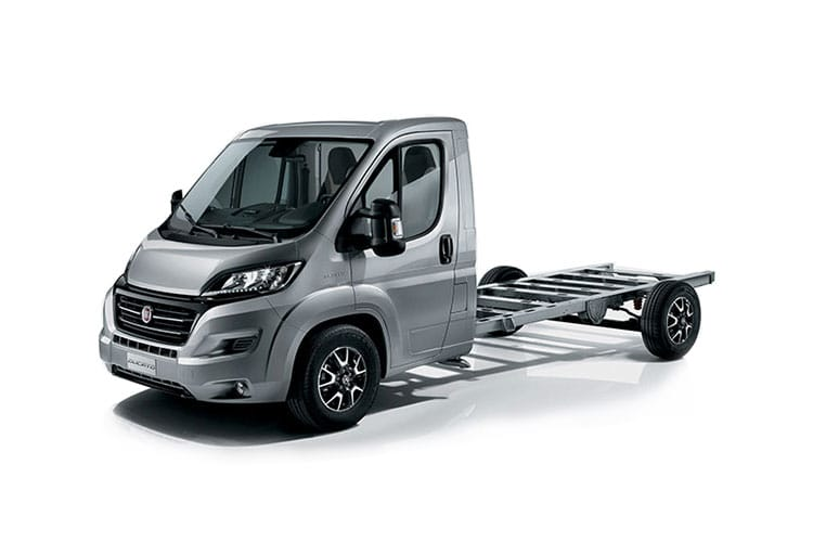 Fiat Ducato e-Ducato 35 LWB Elec 47kWh 90KW FWD 122PS  Chassis Cab Auto [22kW Charger] front view