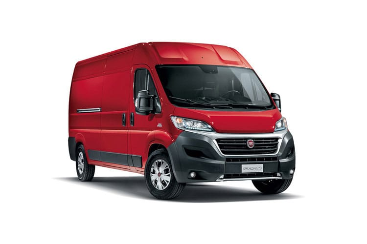 Fiat Ducato e-Ducato 35 MWB Elec 47kWh 90KW FWD 122PS  Van Auto [11kW&50kW Rapid Charger] front view